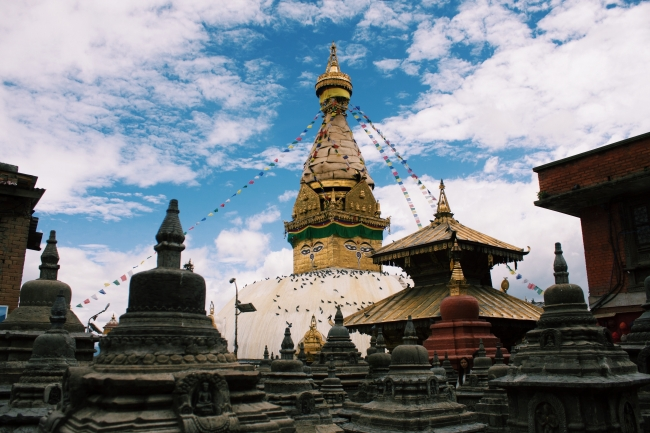 Swayambhunath, Katmandú, Nepal.