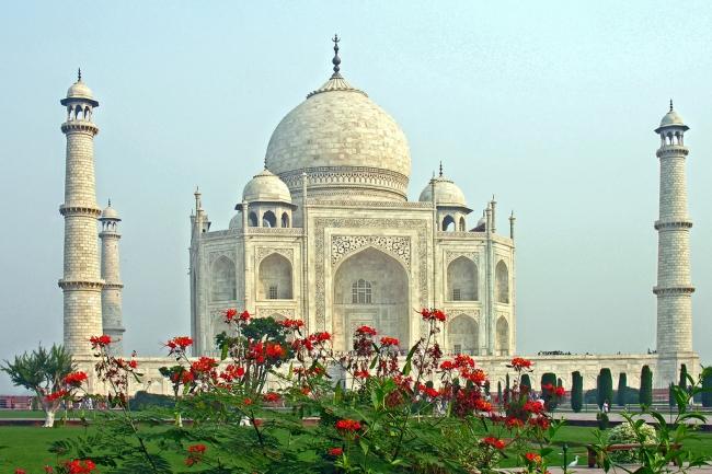 Taj Mahal. Monumento. icono de agra