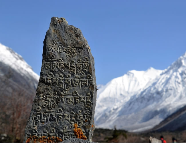 Inscripción en sánscrito